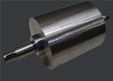 Cigarette Maker Alloy Steel Gluing Roller Adhesives To Tipping Paper